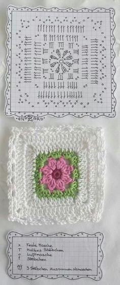 Transcendent Crochet a Solid Granny Square Ideas. Inconceivable Crochet a Solid Granny Square Ideas. Point Granny Au Crochet, Granny Square Crochet Pattern, Crochet Diagram, Crochet Chart, Crochet Squares, Crochet Blocks, Crochet Instructions, Crochet Stitches Free, Crochet Motifs