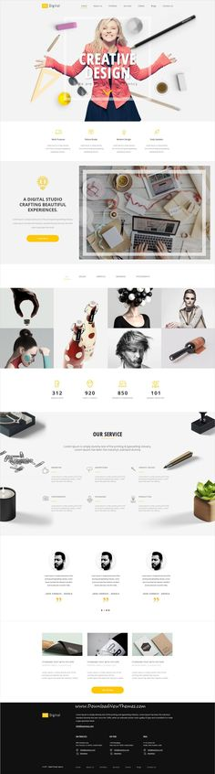 Kasovious is clean and modern design #PSDtemplate for creative #agency and #eCommerce website with 33 layered PSD files to live preview & download click on Visit