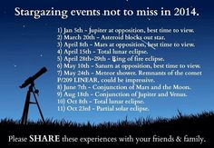 Stargazing events for next year