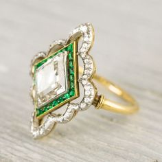 This emerald ring from Erstwhile Jewelry Co went straight to the top of my wish list......