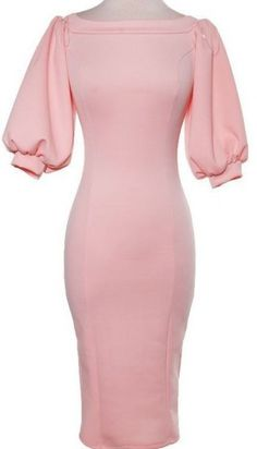 """No puff for sleeves; instead Jyst free flowing sleeves. """"Salina"""" Off the shoulder puffy sleeves dress. Mode Outfits, Dress Outfits, Dress Up, Fashion Outfits, Womens Fashion, Pink Dress, Fashion 2018, Elegant Dresses, Pretty Dresses"""