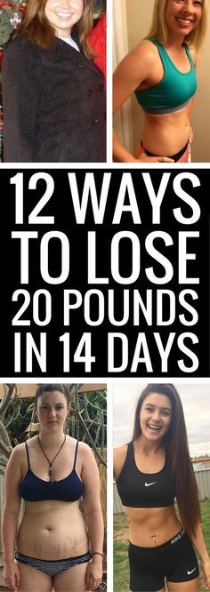 12 tips to get you losing 20 pounds in 2 weeks - no magic pills or wraps involved.