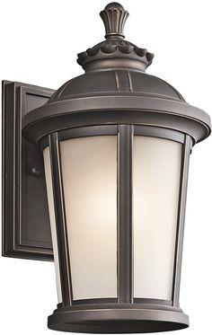 "0-022231>14""""h Ralston 1-Light Outdoor Wall Lantern Rubbed Bronze"