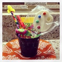 Party Favor Idea for an Arts  Crafts-themed party - #partyfavor #kidsparty