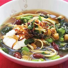 Persian New Year's Soup with Beans, Noodles, and Herbs (Ash-e-reshteh)   Read More http://www.epicurious.com/recipes/food/views/Persian-New-Years-Soup-with-Beans-Noodles-and-Herbs-em-Ash-e-reshteh-em-363446#ixzz2ZHsJIhHf