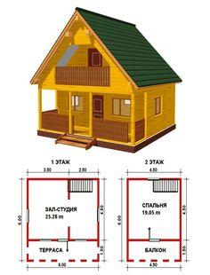 Маленькие дома для постоянного проживания: обзор наиболее комфортных и уютных проектов http://happymodern.ru/malenkie-doma-dlya-postoyannogo-prozhivaniya/ Проект маленького деревянного дома с мансардой и балконом