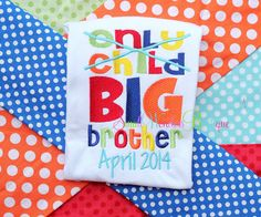 Only Child Expiring Embroidered Shirt Sibling by smallwonders00, $22.00