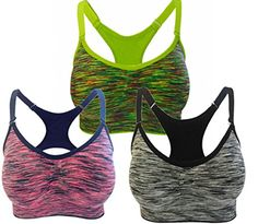 BRABIC Women Fitness Yoga Stretch Tank Top Seamless Padded Sports Pack of 3 (L, BlackGreenRed). Hey Dear Good News ! Please ignore the Estimated Delivery Date of Amazon,How can we make our customer wait such a long time ! That is crazy !In order to make our customer enjoy the best service. We already set a warehouse in the United States ,the sports bra will get to you in 2-5 days after you place order .So do not be hesitate. Lightly padded. removable padding and adjustable straps.the straps…