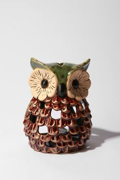 Perfect decorative tea candle holder for those that give a hoot about mood lighting. #urbanoutfitters
