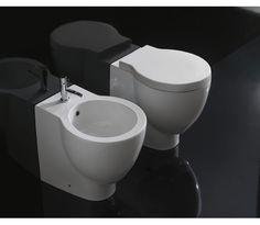 SB002.BI Globo  Globo Bowl Gulvstående toalett 500x370 mm, Med skjult innfesting