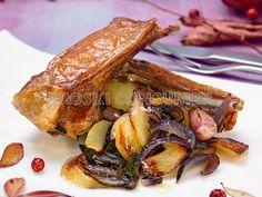 COMIDA DE NAVIDAD.  2º Plato: Receta de costillas y paletilla de cordero de leche asado con patatitas y cebolla confitada