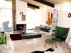 Πολυθρόνα Papa Bear, EGG & Wassily, παγκάκι Barcelona και φωτιστικό Arco.