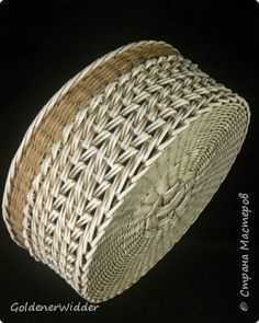 Поделка изделие Плетение Японское-послойное с послойным в две трубочки Бумага газетная Трубочки бумажные фото 5
