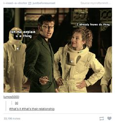 "When they summarized the Doctor and River's relationship. | Literally Just 21 Funny ""Doctor Who"" Tumblr Posts"