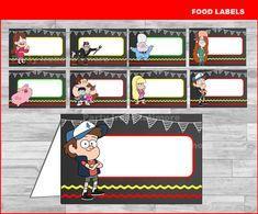 Gravity Falls food labels Instant download Gravity Falls