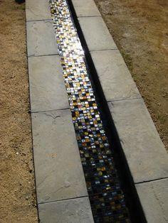 Peace Awareness Garden LA - Mosaic rill