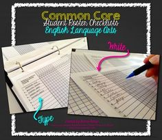 Common Core Standards Checklist - Student Roster Editable Form (this is now included in all my Common Core checklist bundles) $1 (or free with CCSS bundle purchase!)