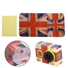 USA Flag Sticker Skin Protector Case For Camcorder XiaoMi Yi Action Sport Camera #UnbrandedGeneric