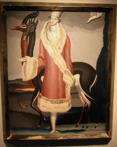 """Jean Dupas, """"Woman in Fur"""", circa 1929, oil on panel, €25,000-30,000 at Sotherby's Paris"""