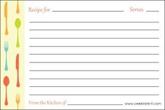 My Delicious Ambiguity: My favorite FREE printable recipe cards