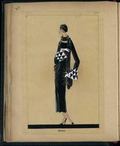 Robe Oxford, Paris 1924, copyright Patrimoine Lanvin #JeanneLanvin #Lanvin