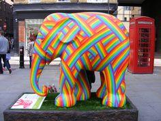 GOP memo says the party should embrace LGBT equality Elephant Parade, Elephant Art, Elephant Information, Balloon Dog Sculpture, Decoupage, Rainbow Colors, Rainbow Stuff, Gay Pride, Cool Art