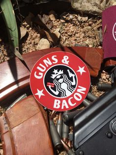 """Image of Guns and BACON decal 4"""""""