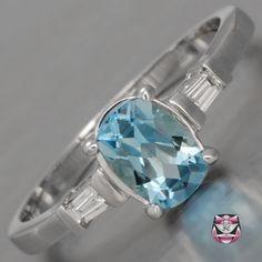 Estate Aquamarine Engagement Ring