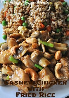 Cashew Chicken with Fried Rice by Everyday Mom's Meals