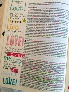 good ideas on using stickers for a Journaling Bible