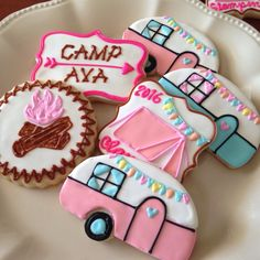 Glamping Cookies - 1 Dozen  ***Minimum 2 Weeks for Delivery*** by kjcookies on Etsy https://www.etsy.com/listing/269297754/glamping-cookies-1-dozen-minimum-2-weeks