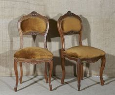 LOLO FRENCH ANTIQUES PAIR FRENCH ANTIQUE LOUIS XV STYLE SALON CHAIRS - Lolo French Antiques et More