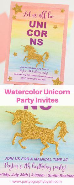 Watercolor Unicorn P