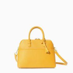 Image 1 of SAFFIANO LEATHER MINI-CITY BAG from Zara