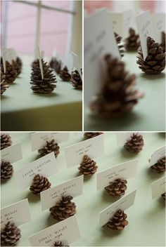 BIG-4 Simple and Chic DIY Ideas for Any Winter Wedding - they can be spray painted to match the decor! So cute!