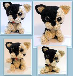 Amigurumi Puppy Bulldog Bulldog Puppies, French Bulldog, Teddy Bear, Toys, Animals, Amigurumi, Tejidos, Activity Toys, Animales