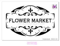 M0036 Flower Market with Border