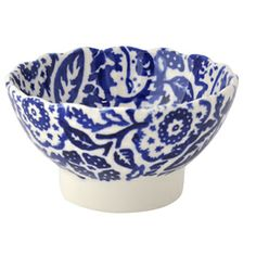 Blue Wallpaper Small Fluted Bowl