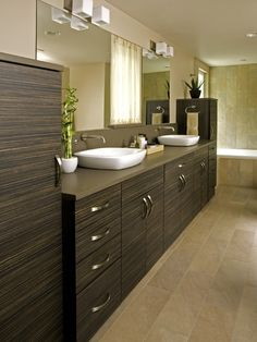 Bathroom Dark Cabinets Design, Pictures, Remodel, Decor and Ideas - page 15