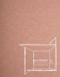 Architecture Portfolio - Matea Paćelat Selection of my work from 2012 to 20 . - Architektur Portfolio – Matea Paćelat Selection of my work from 2012 to 2015 – - Portfolio Design Layouts, Ideas De Portfolio, Portfolio Design Grafico, Portfolio D'architecture, Architectural Portfolio Design, Portfolio Covers, Page Design, Book Design, Landscape Architecture Portfolio