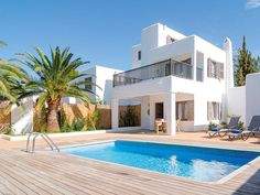 Get the best price on Villas S& in Santa Eulalia on the island of Ibiza. 3 bedroom deluxe villas with private pool. Villas, Independent House, Ibiza Beach, Villa With Private Pool, Greek House, Mediterranean Homes, Luxury Villa, Luxury Homes, Beach House