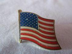 Old Glory USA Flag Tac Pin Brooch