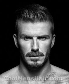 1920s mens facial hair | Photo of David Beckham slicked back undercut in H underwear campaign ...