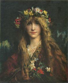 "loumargi: ""Jules-Élie Delaunay (1828-1891), Ophelia (1882), """