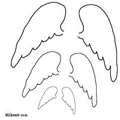 image about Angel Wing Stencil Printable identified as angel wing template -