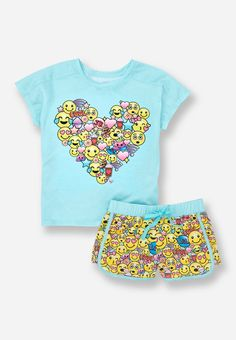 Cute, Comfy & Fun Sleepwear & Pajamas For Tween Girls Lazy Day Outfits, Cute Girl Outfits, Kids Outfits Girls, Tween Girls, Cute Pjs, Cute Pajamas, Girls Pajamas, Justice Pjs, Justice Outfits