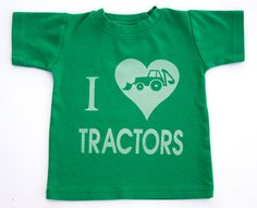 I Love Tractors Toddler Shirt Ink Free Sizes by CantaloupeCorner, $23.00