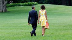 The President and the First Lady. LOVE this picture.