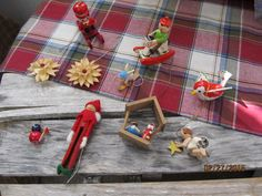 Vintage Wood Christmas Ornaments Assortment Italy Japan Nativity Clothespin Lot by EvenTheKitchenSinkOH on Etsy