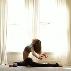 Pigeon yoga pose variation..